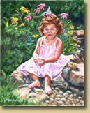 """By the Pond"" - Portrait of Allison"